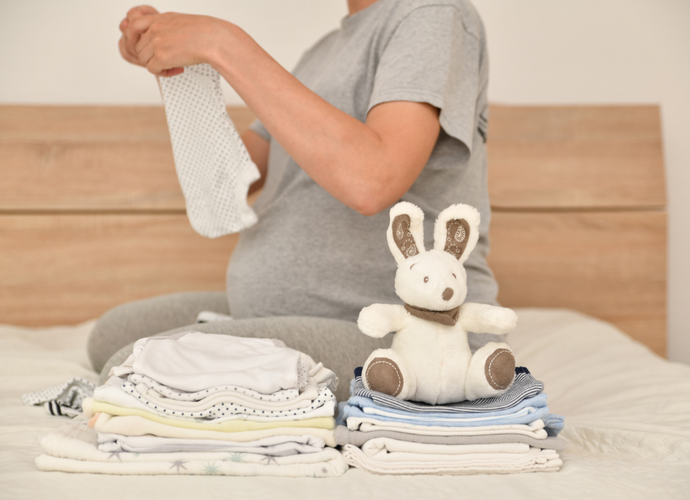 wash and organize your baby clothes
