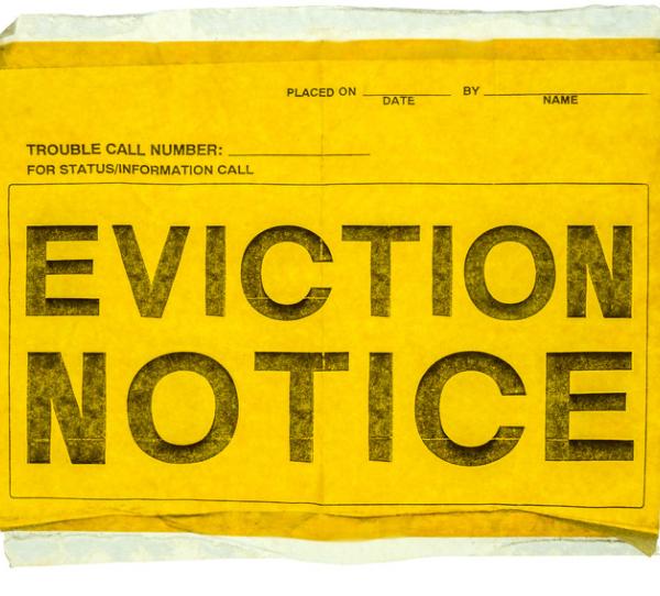 eviction notice pregnancy announcement