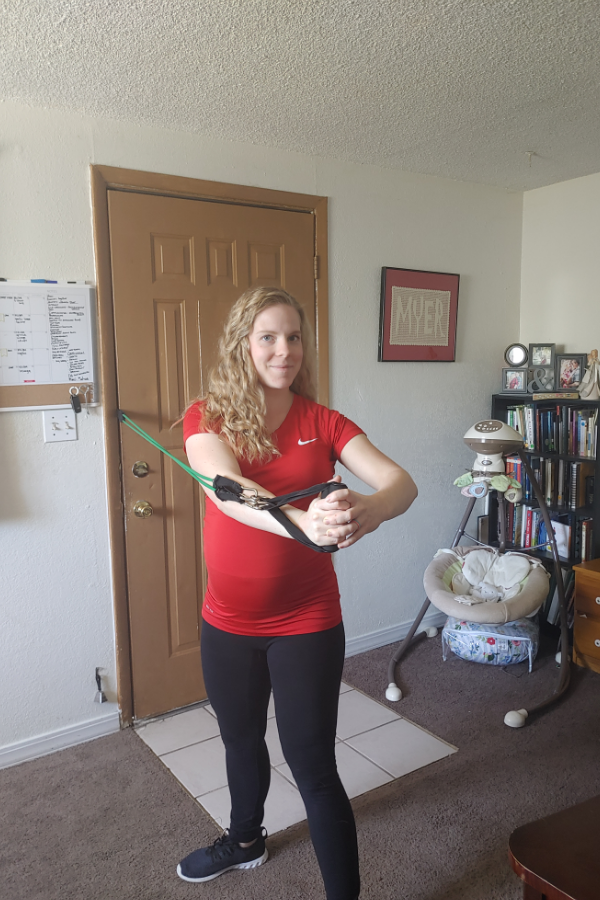Resistance Band Ab Workout During Pregnancy