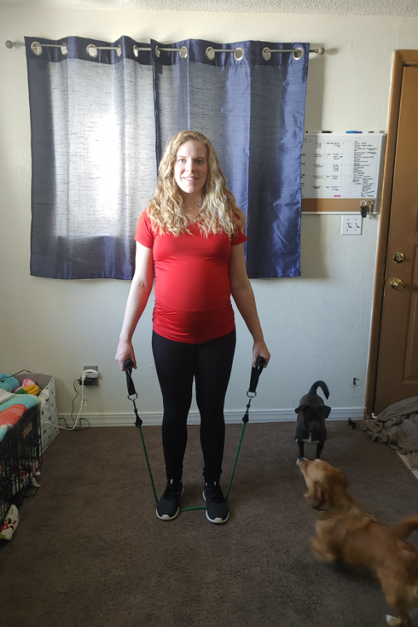 Resistance Band Upper Body Pregnancy Workout