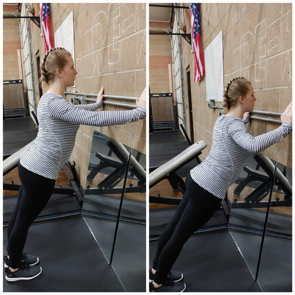 incline wall pushups