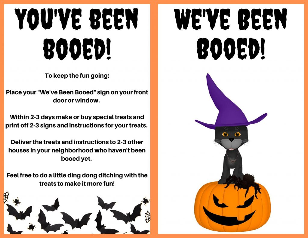 Halloween Boo treat instructions