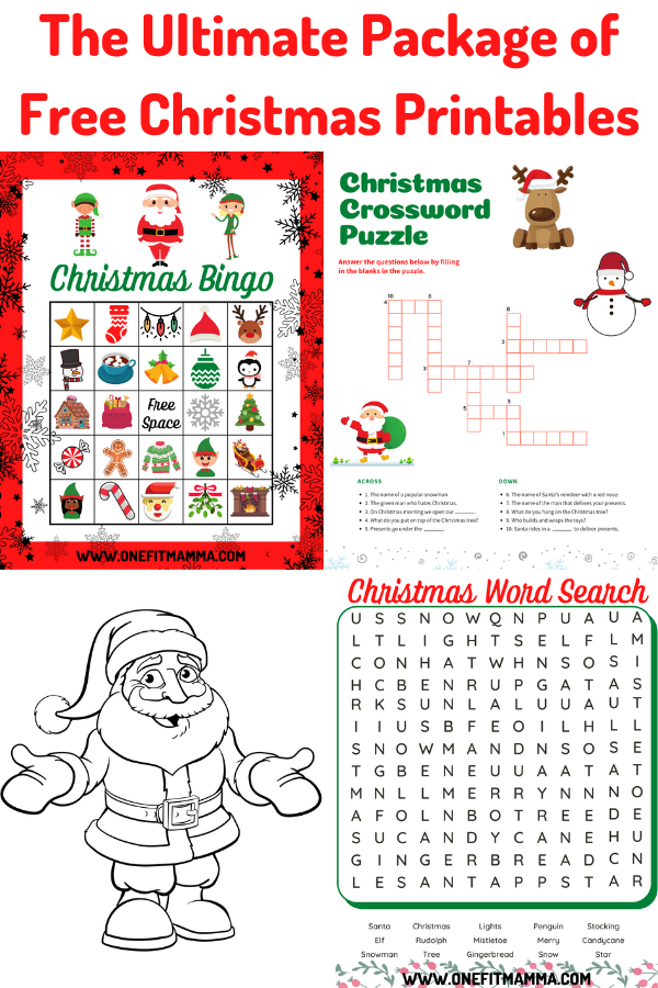 The Ultimate Package of Free Christmas printables