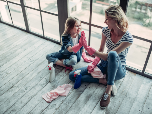 easy cleaning guide for busy moms