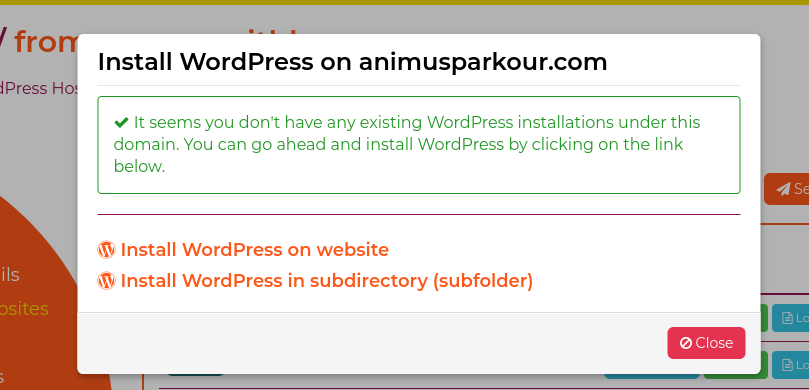 install wordpress onto your website to start your blog